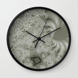 Cauliflower Fractal Lines Pattern Wall Clock