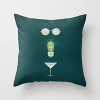 the great gatsby Throw Pillows featuring The Great Gatsby by Christian Jackson