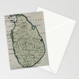 Vintage Map of Sri Lanka (1801) Stationery Cards
