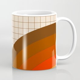Tan Gridlines Coffee Mug