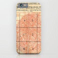 Vintage Paris City Centre Map Slim Case iPhone 6s