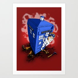 Dr Whorrible's Revenge! Art Print