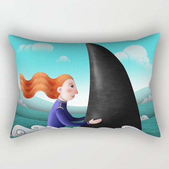 Feeling of freedom Rectangular Pillow
