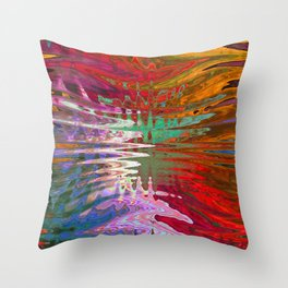 Mesmerizing Warm Tone Abstract Landscape Throw Pillow
