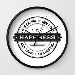 I'm choosing happiness Wall Clock