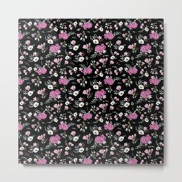 Liberty Black Pattern Metal Print