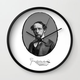 Authors - Charles Dickens Wall Clock