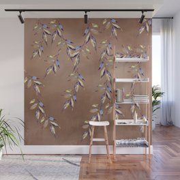 Watercolor Leaf Cascade Wall Mural