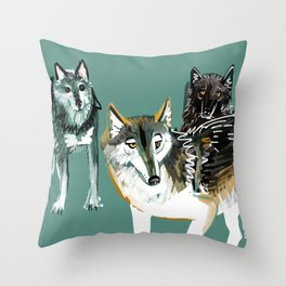 Northwestern wolf Throw Pillow