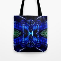 malachite Tote Bags featuring Azurite - Malachite by Lucia