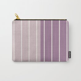 Two Tone Stripes - Mauve Carry-All Pouch