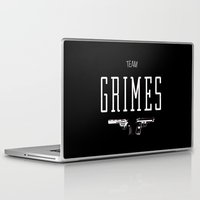 rick grimes Laptop & iPad Skins featuring Team Grimes by Dorothy Leigh
