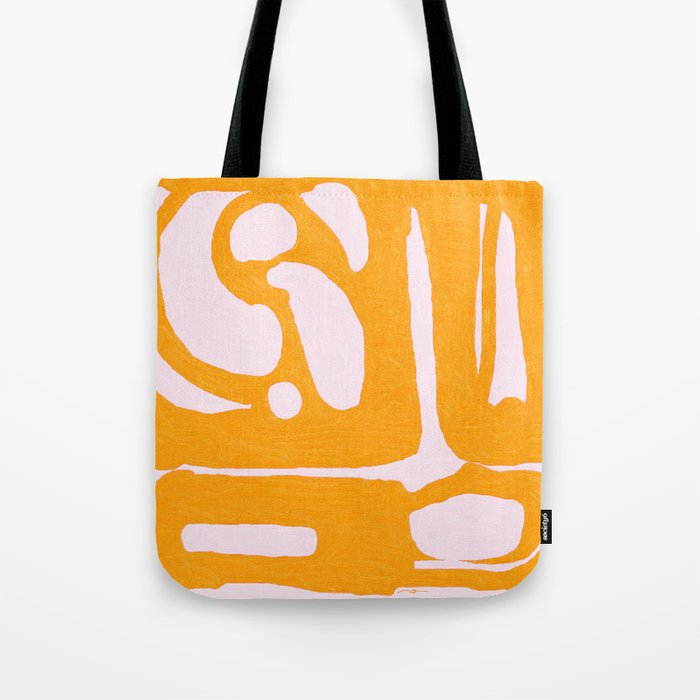 Abstract in Yellow and Cream Tote Bag