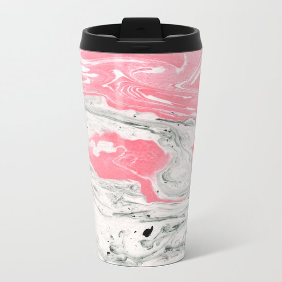 Marble + Bubblegum #society6 #decor #buyart Metal Travel Mug
