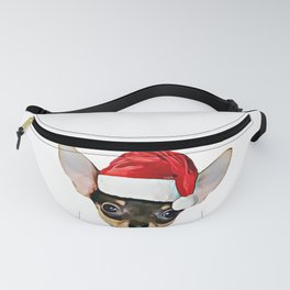 Christmas Chihuahua dog Fanny Pack