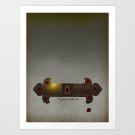 Treasure Island Minimal Poster Art Print