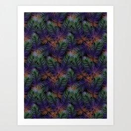 Leaves palm pattern Art Print