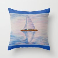 serenity Throw Pillows featuring Serenity by Ana Lillith Bar