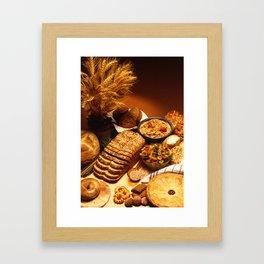Wheat Foods Framed Art Print
