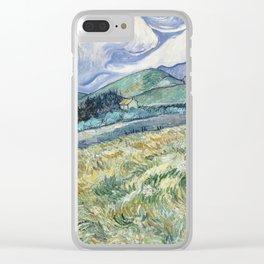 Vincent Van Gogh Landscape from Saint Remy 1889 Clear iPhone Case