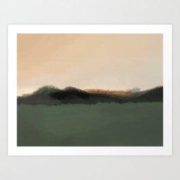 Peach Sky Art Print