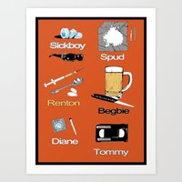 trainspotting Art Prints featuring Trainspotting vector by David Amblard