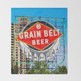 Grain Belt Beer Sign Throw Blanket