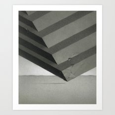 Sectioned Cube Art Print