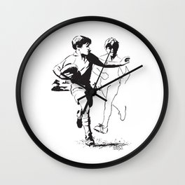 Rugby Junior Hand-Off by PPereyra Wall Clock