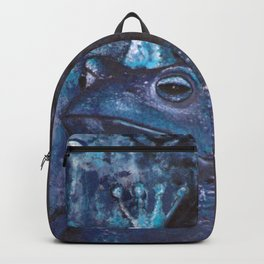 The Frog King - blue Backpack