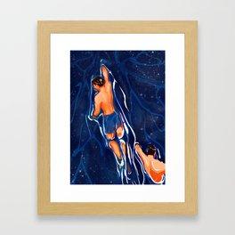 The Swim Back Framed Art Print