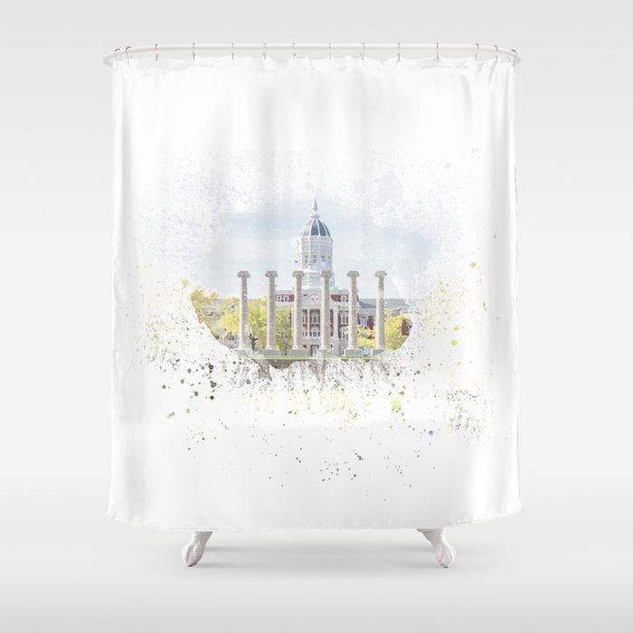 Mizzou Columns Splash Shower Curtain