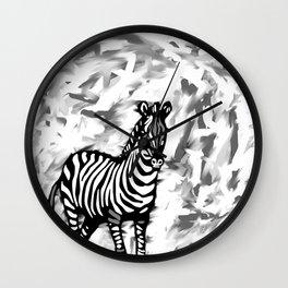 ZEBRA BLACK AND WHITE Wall Clock