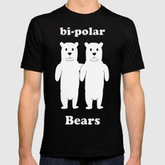 Bipolar Bears MEDIUM Black Mens Fitted Tee