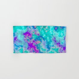 Turquoise and purple cloud art Hand & Bath Towel