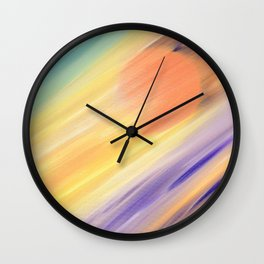 """""""Catch the Sun #1 – New #1"""" Oil Painting Wall Clock"""