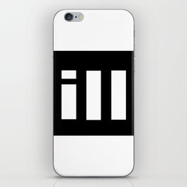simple is ill WH iPhone Skin