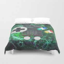 Classic Steampunk Game Controller Duvet Cover
