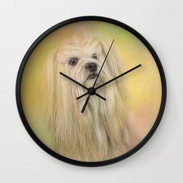 Spring Lhasa Apso Wall Clock