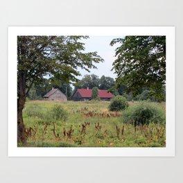 Farm Life in Latvia Art Print
