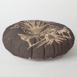 Vegvisir - Viking Compass Ornament Floor Pillow