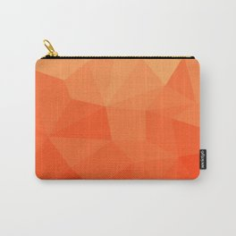 Abstract Geometric Gradient Pattern between Pure Red and very light Orange Carry-All Pouch