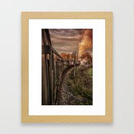 Evening Train Framed Art Print