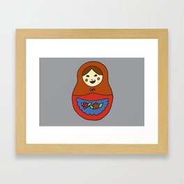1 Matroyshka Doll Framed Art Print
