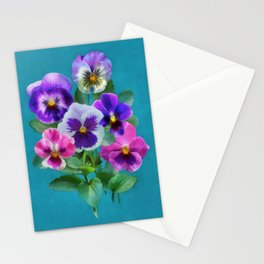 Bouquet of violets I Stationery Cards