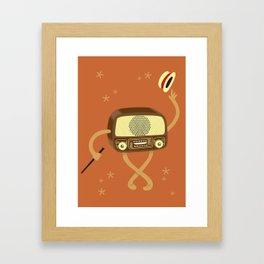 Old Style Radio Framed Art Print
