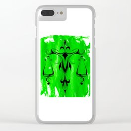 Libra Green Clear iPhone Case