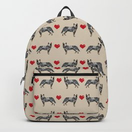 Australian Cattle Dog blue heeler hearts love dog breed gifts for cattle dog owners Backpack