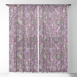 Witchy Things Sheer Curtain