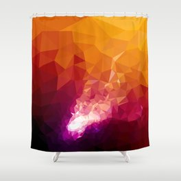 Galaxy Low Poly 44 Shower Curtain